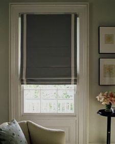 Tutorial for roman blinds à la Martha Stewart