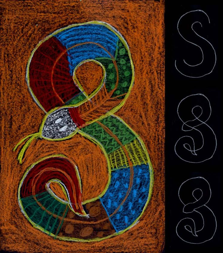 Art Projects for Kids: Aboriginal Snake Drawing