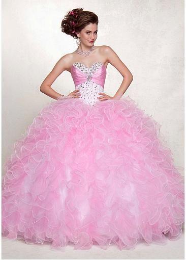 Fabulous Satin  Organza Sweetheart Neckline Floor-length Ball Gown Prom Dress