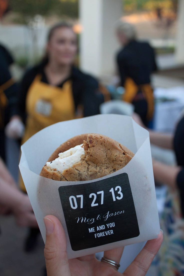 Great idea! A sleeve to hold the ice cream sandwich, print right on the paper or use a sticker