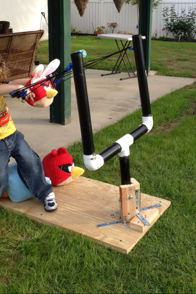 Life Size Angry Birds Sling Shot Made By Daddy My Son S