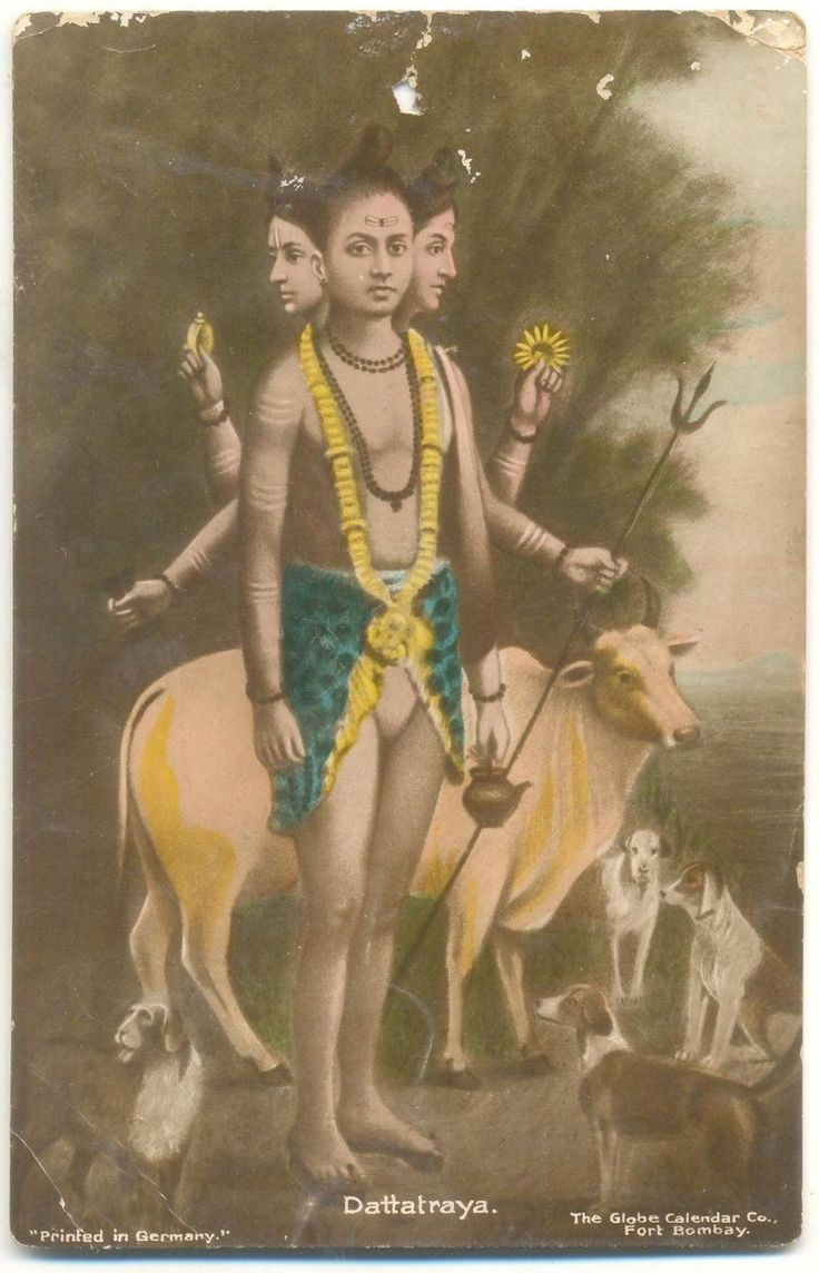 "hinducosmos:  "" Dattatraya  Old photograph printed in Germany  """