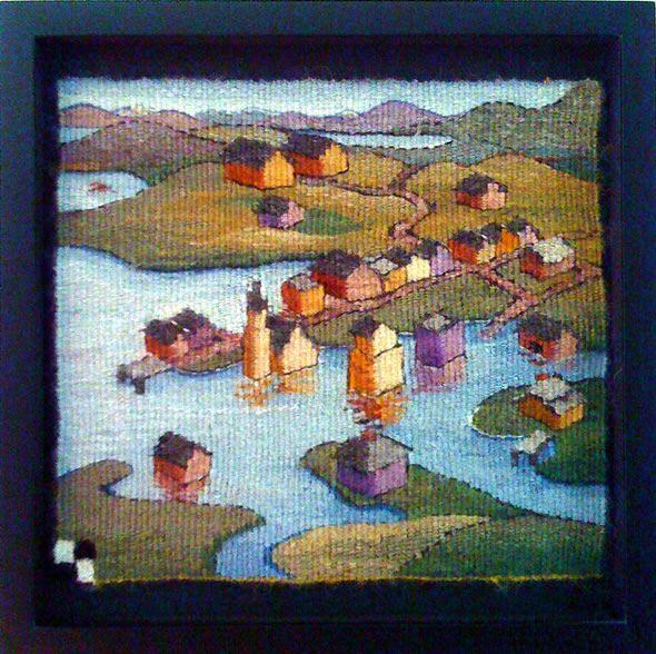Sarah Swett is my inspiration for modern tapestry weaving