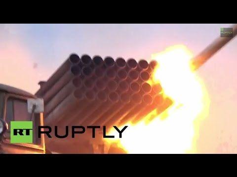 Ukraine: Militia launch BM-21 Grad missiles at targets