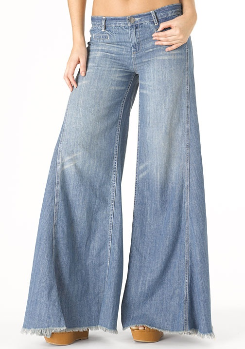 Elephant leg jeans and pants. You needed a body suit to wear with them