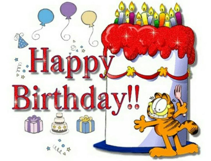 Image result for animated cake images garfield