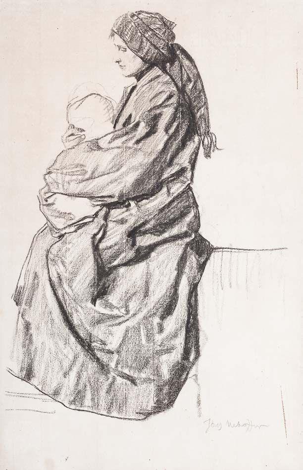 J.Menchofer Studium obrazu Matka z dzieciątkiem