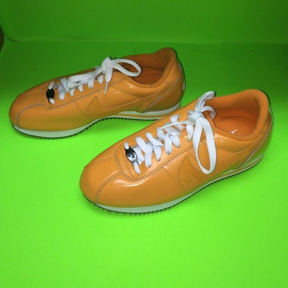 Vintage Orange Nike Cortez '72 Womens Size 6 Only worn Twice. Vintage Orange Patten Leather Nike Cortez '72. These are in like new condition. These were released in 2001. Supercool rare sneaker. Nike Shoes Sneakers