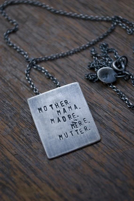 Feliz dia de las Madres ~ Personalize Your Mother Necklace by AdaRosman, $58.00