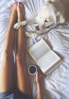 A good book and your best friend by your side.