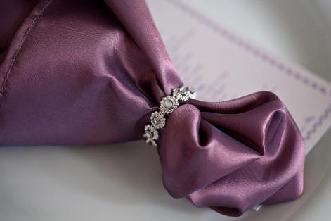 Napkin ring bling