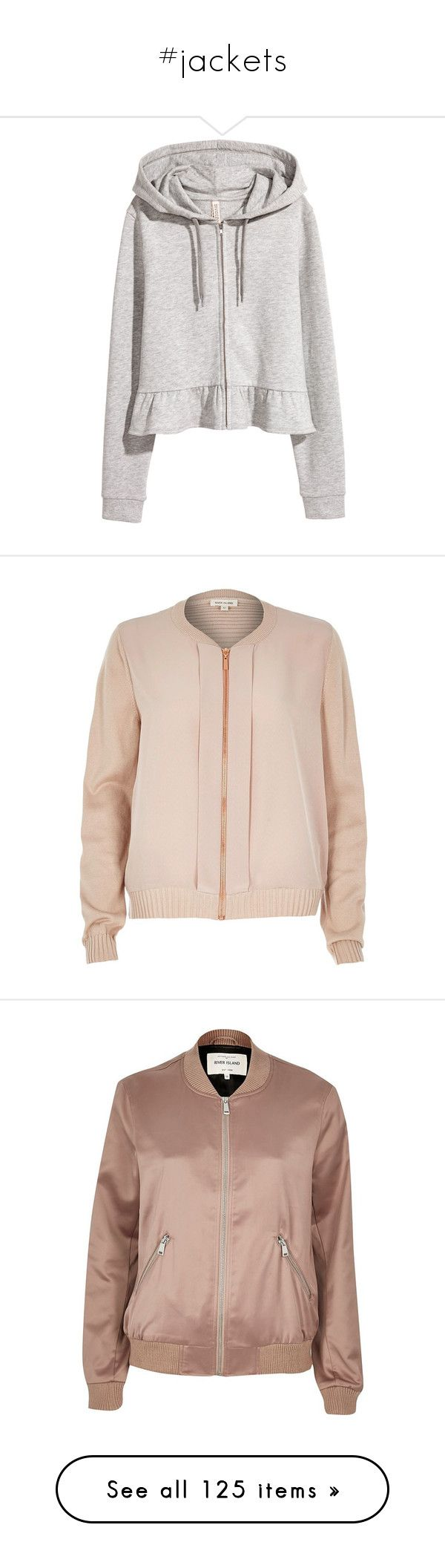 """#jackets"" by littleluxusfashionista ❤ liked on Polyvore featuring tops, hoodies, outerwear, jackets, coats / jackets, nude, women, woven bomber jacket, pink jacket and woven jacket"