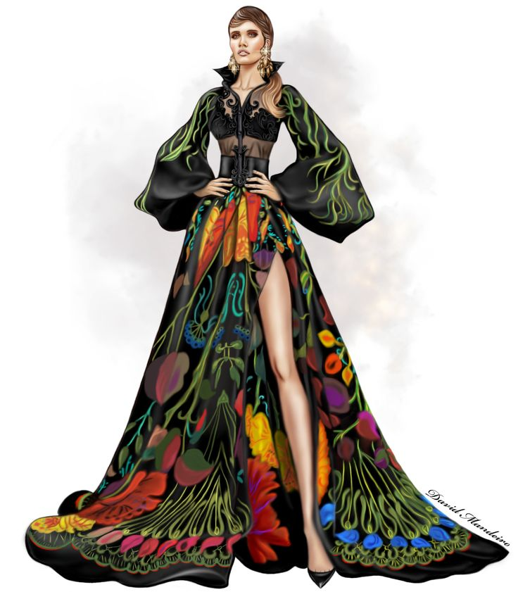 Fouad Sarkis Couture #Digitaldrawing By David Mandeiro