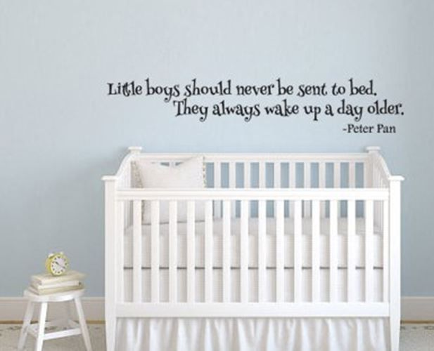 Peter Pan Inspired Little Boys Always Wake up a Day Older Vinyl Wall Decal Stick #LuckyGirlDecals #beautiful #budget #custom #cute #decal #decals #decor #decorating #design #family #fun #gifts #graphics #happy #home #homedecor #interiordecorating #interiordesign #lettering #letters #love #luckygirldecals #oracal631 #personalized #pretty #quote #quotes #remarkablewalls #sticker #stickers #style #vinyl #vinyldecal #vinylfilm #vinylwalldecal #wall #wallart #walldecal #walldecor #wallquote…