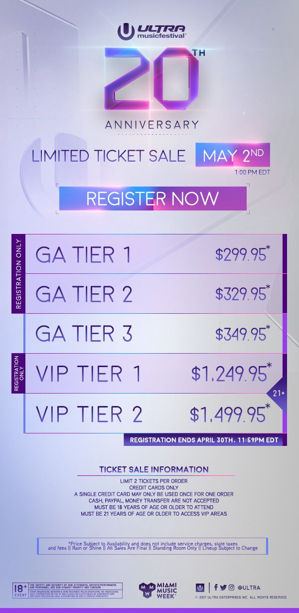 GoRockfest.Com: Ultra Music Festival 2018 Lineup & Tickets Info