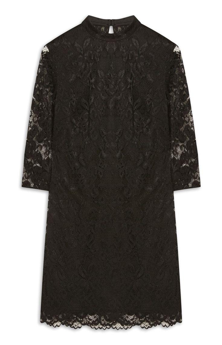 Primark - Zwarte kanten jurk met lange mouwen