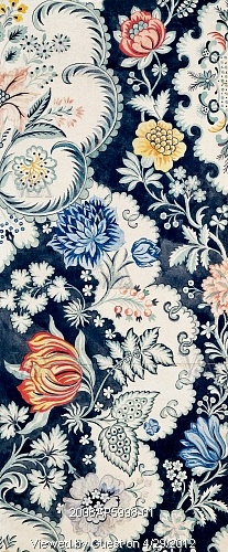 Textile design, by Anna Maria Garthwaite (1690-1763). Watercolour. Spitalfields, London, 18th century.