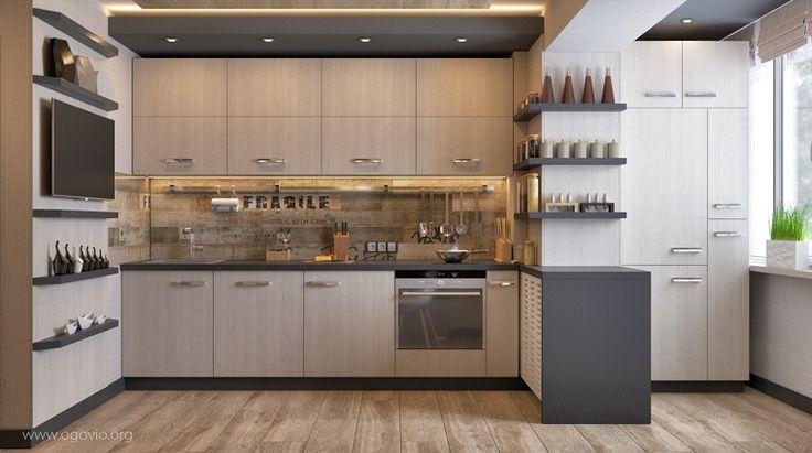 Estantes abiertos para cocina ideas de almacenamiento modernas y funcionales ideas casa - Estantes funcionales ...