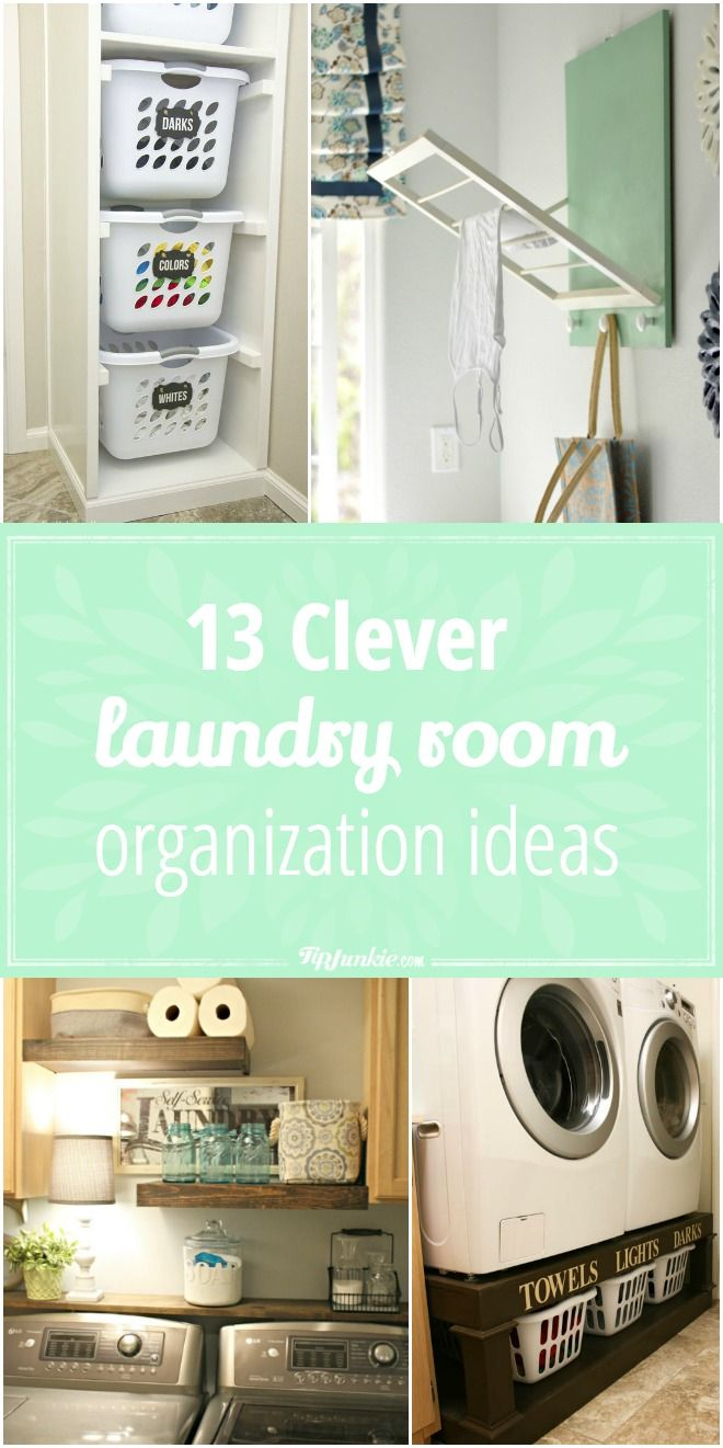 Ideas Laundry Room Organization Organization 13 Clever Clean Ideas