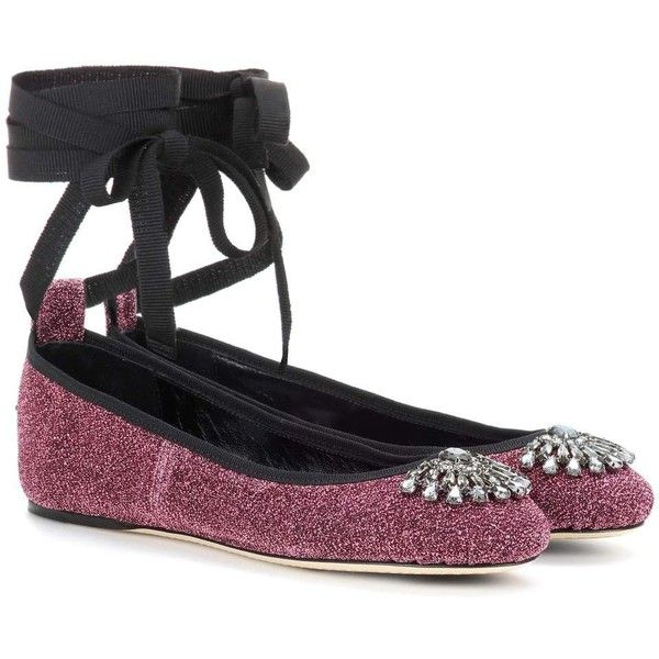 Jimmy Choo Grace Flat Embellished Leather Ballerinas ($590) ❤ liked on Polyvore featuring shoes, flats, ballerina, pink, flat shoes, pink leather flats, ballerina flats, pink ballet flats and ballerina flat shoes