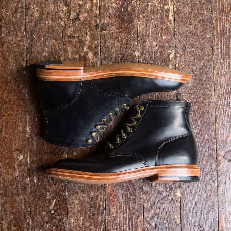 The black diesel boot laid out.   #black #diesel #boot #goodyearwelt #boots #gyw #chromexcel #cxl #leather #grantstone