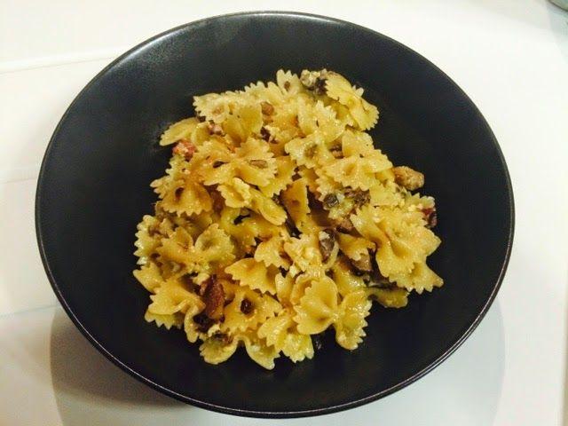 Comida Italiana ..por italianos: Pasta con setas y jamon! (Sin lactosa)