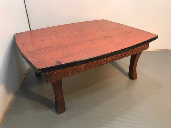 Rare Japanese Table Small Folding Display Table 1930s Wooden