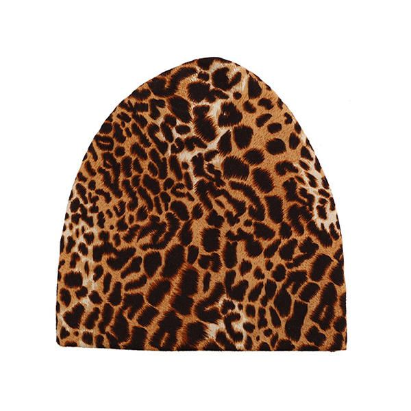 Women Winter Beanie Hat Cap Leopard Outdoor Dual Use Scarf and Hat at Banggood