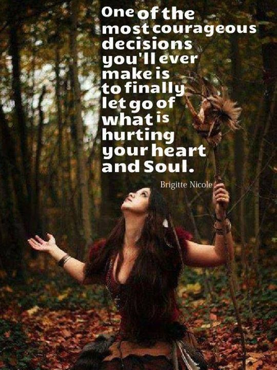 """""""Letting go doesn't mean that you don't care about someone or something anymore. It is the wholeheartedly decision to not let this person or situation have control over you any longer. You decide to surrender and let go.""""  —Wild Woman Sisterhood"""