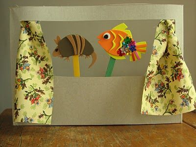 Fantoches de EVA: Crafts Crafty, Puppets Theater Boxes, Big Ideas, Class Ideas, Activities For Kids, Kids Stuff, Kids Crafts, Cereal Boxes Crafts For Kids, Birthday Ideas