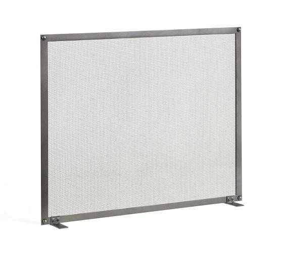 Industrial Fireplace Single Screen, 26 x 30