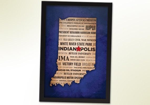 Indianapolis Typography City Print