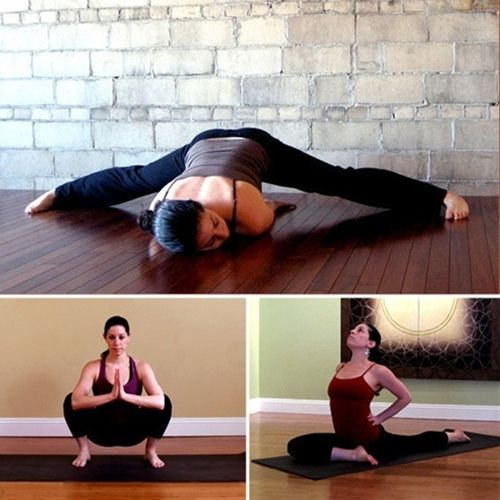 """Stretches for tight hips (hip flexers, t-band, sciatica) tight hips can be the reason for a lower belly """"pooch"""" so do them! - Click image to find more health posts"""