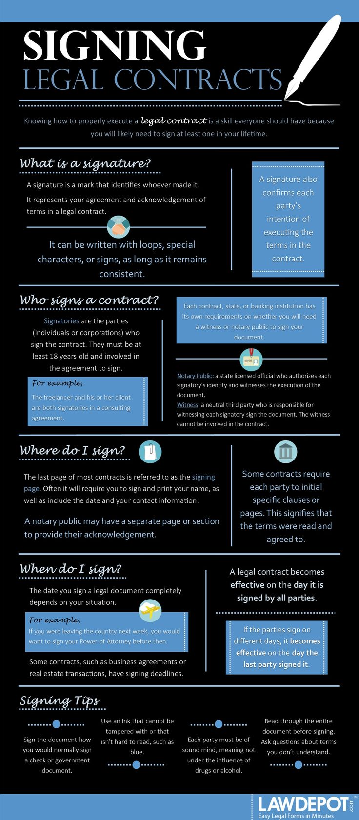 Contracts law offer and acceptance 4 law school - Learn The Basics Of Signing Legal Contracts Including When Where And How To Sign Your Name In A Legal Agreement