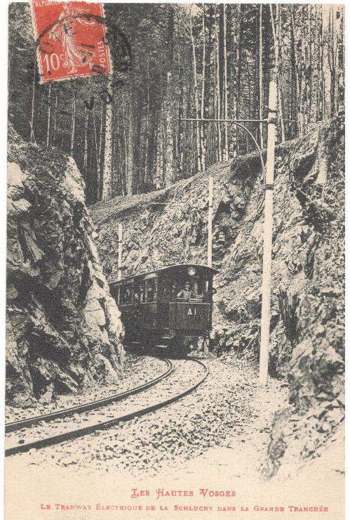 TRAM ELETTRICO 1910 - LES HAUTES VOSGES - ANIMATA - VIAGGIATA