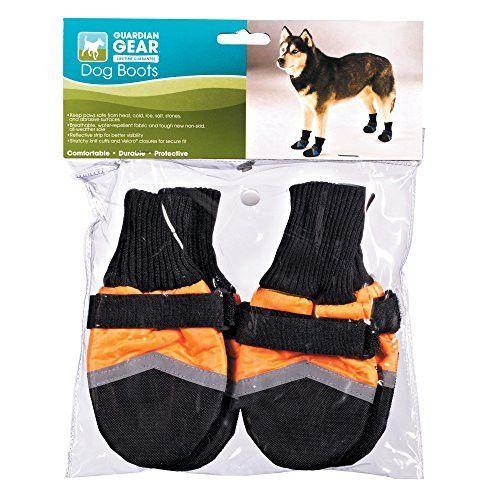 Guardian Gear Oxford Boots for Dogs, XXS, Orange