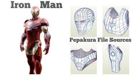 There are lots of talented designers that have created pepakura files for many of the Iron Man suits and they are compiled in a master list here!