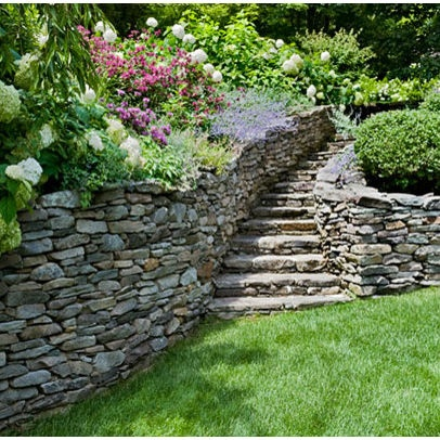 Garden Steps By Lilly. Find This Pin And More On Stone Wall Ideas ...
