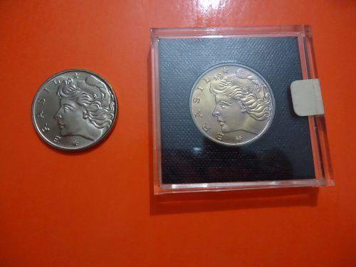 Brasil - moeda de 1 cruzeiro de 1977 / 1978 antiga e rara