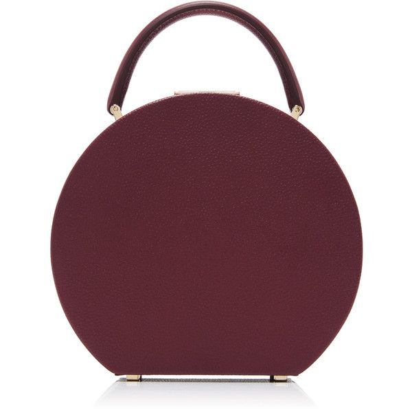 BUwood     Calf Leather Tuscan Wine Bumi 18 Bag found on Polyvore featuring bags, handbags, accessories, burgundy, purple handbags, burgundy bag, clasp purse, hardware bag and wine purse