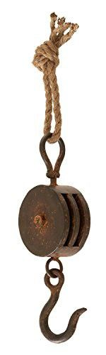 ... Rope Pulley Rust Antique Vintage Industrial Steampunk Decor (Small