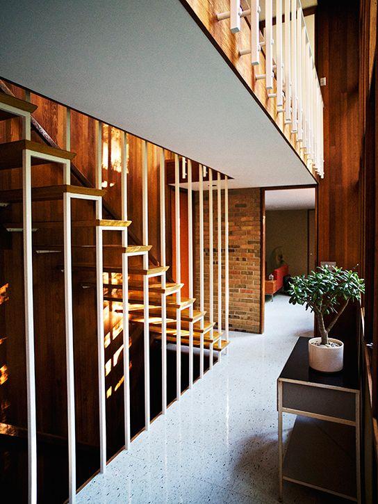 garde corps bois à peindre escalier
