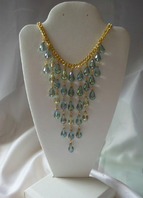 Mermaid Cascade Necklace | AllFreeJewelryMaking.com