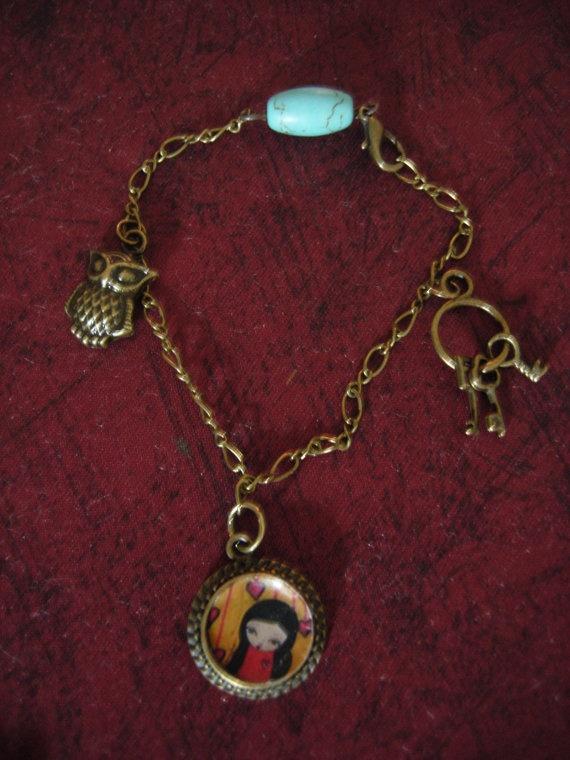 The Lucky Charms Braceletart illustrated bracelet with by eltsamp, $28.00