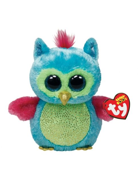 Justice Toys For Girls : Color block owl inch beanie boo girls stuffed animals