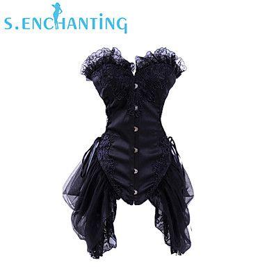 De senchanting vrouwen bruiloft prinses corset vampier mooie rok outfit clubwear – EUR € 37.23