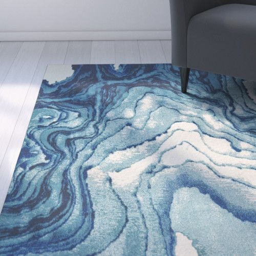 Found it at AllModern - Angeline Blue Area Rug
