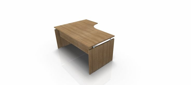 Munus crescent desk left hand with panel ends