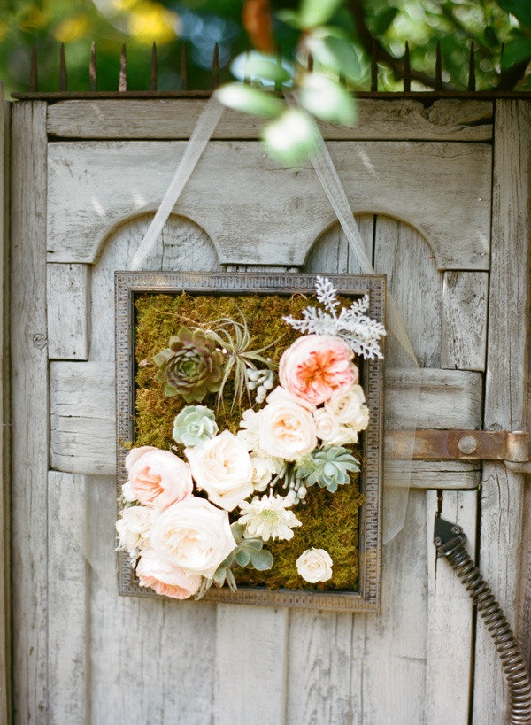 hanging floral decor.... maybe something like- for fence back door?