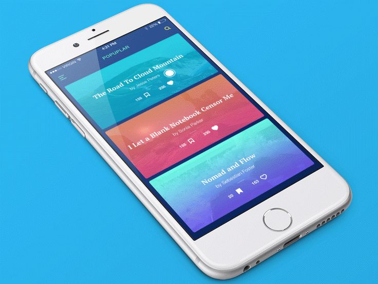 Hi everyone! One more shot for Travel Blog App Concept. There I use 3D touch…